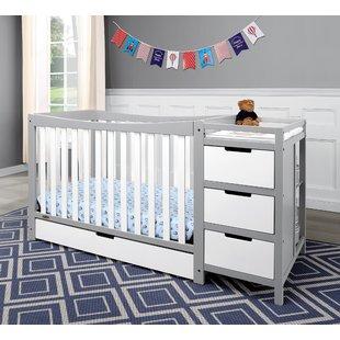 Grey Crib & Changing Table Combo You'll Love   Wayfair