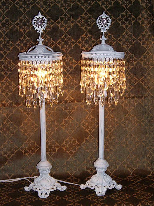 Beautiful crystal chandelier table top lamps for garden and small