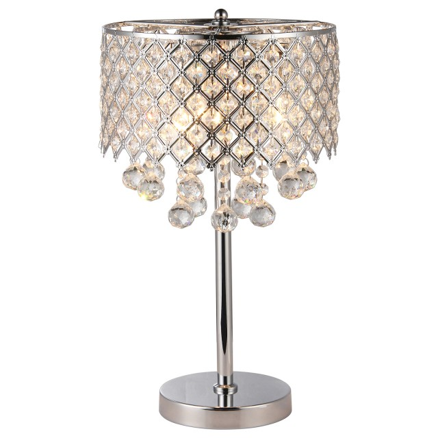 Cool Crystal Chandelier Table Lamp Elegant With Regard To Idea 0