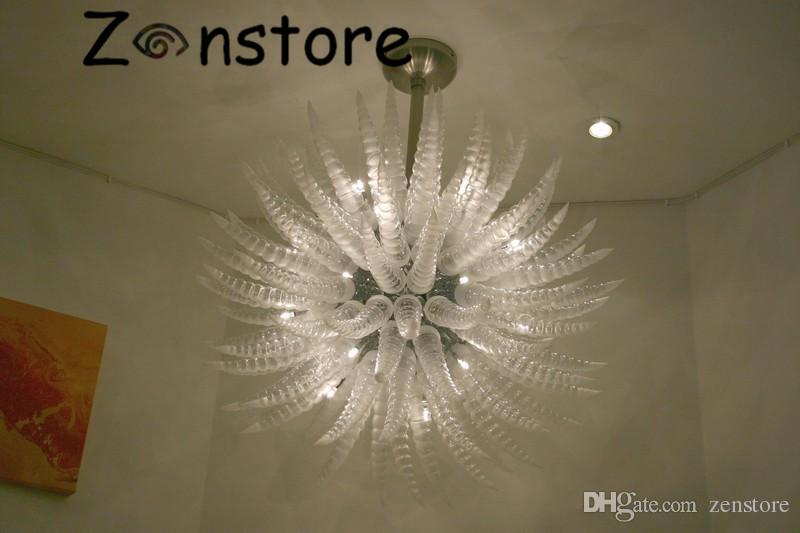 Clear Corn Chandelier European Style Corn Glass Parts Balls LED
