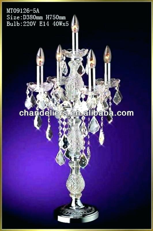 Table Top Lamps Pertaining To Crystal Chandelier Table Lamp Prepare
