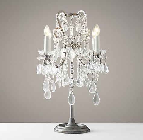 top of dresser Manor Court Crystal Table Lamp | Crystal