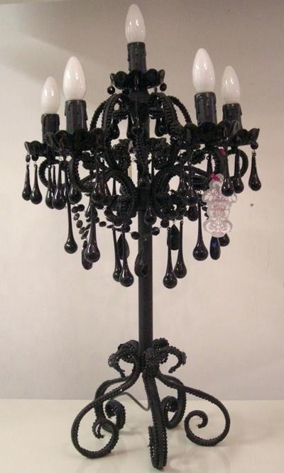 Black Crystal Chandelier Table Lamp Cheap u2013 cequami