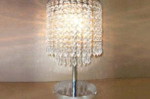 Dazzling Single Light Table Lamp With Delicate Gray Table Lamps
