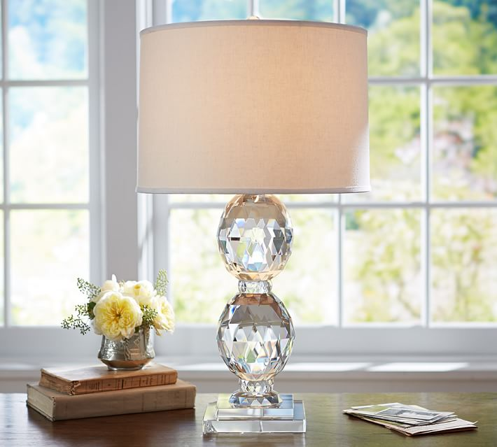 Carlotta Faceted Crystal Table Lamp Base | Pottery Barn