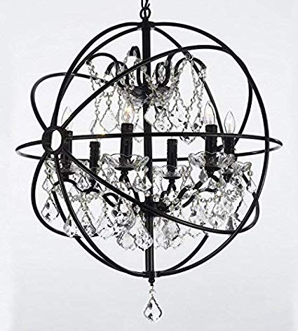 Crystal Orb Chandelier