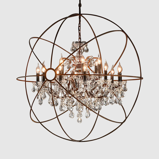 Crystal Orb Chandelier - Standard Party Rentals - Bay Area