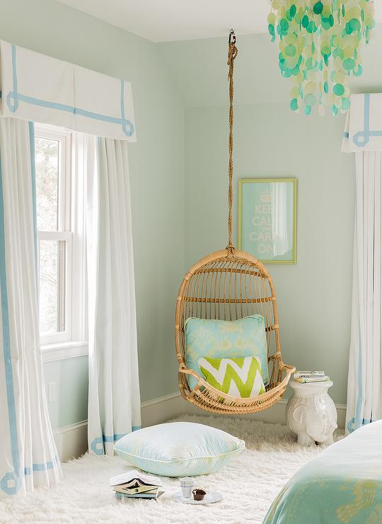 Blue and Green Teen Girls Room - Transitional - Girl's Room