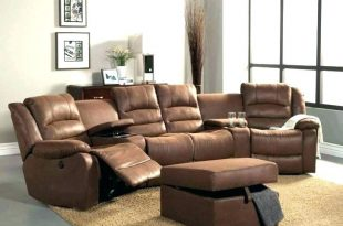 leather sectional sofa with recliner u2013 house of design