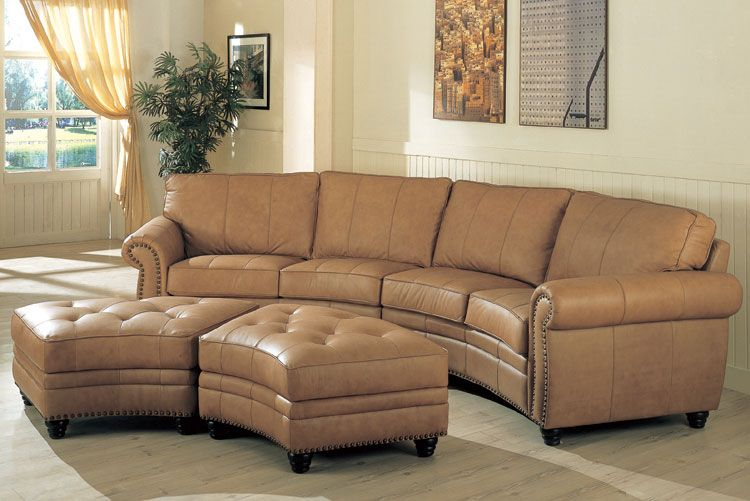 Curved Leather Couch - Lonestarhomefurniture.com | Home: Furniture