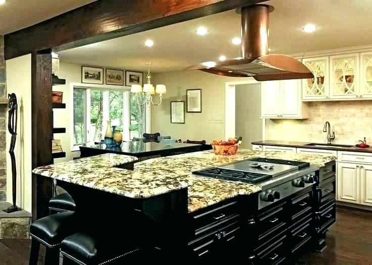 Custom Kitchen Islands With Seating Stationary Kitchen Islands