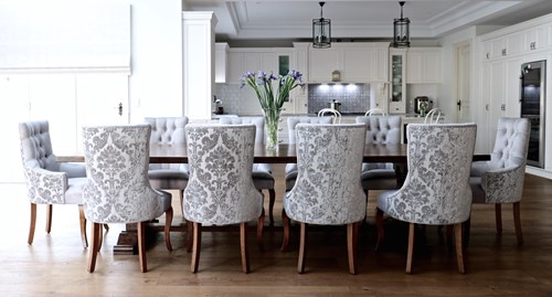 Picturesque Custom Upholstered Dining Chairs Oknws Com At Ilashome