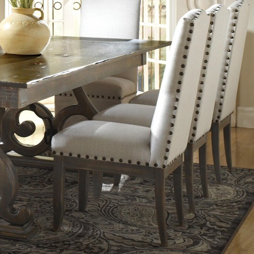 Dining Chairs Amazing Nailhead Trim Wingback Chair Intended For