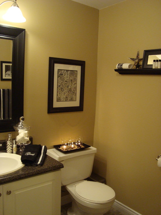 Change ordinary look with cute bathroom decorating themes to make