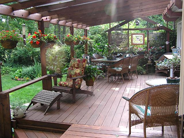 Best Plants Around Deck; Cheap Patio Decorating Ideas; Covered Deck Ideas  On A Budget; OLYMPUS DIGITAL CAMERA
