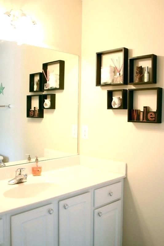 Marvelous Decorative Bathroom Wall Shelves Formidable In Idea 7 For