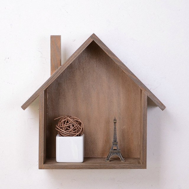 Special wooden house bathroom wall decorative ornaments hanging wall