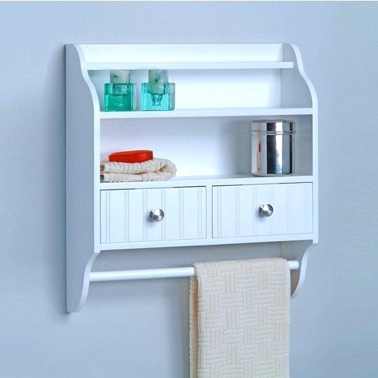 Bathroom Wall Cabinet With Towel Bar Oak Bathroom Wall Cabinet With
