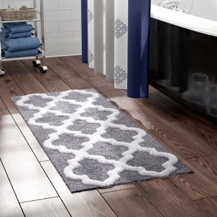 Gray & Silver Bath Rugs & Mats You'll Love | Wayfair