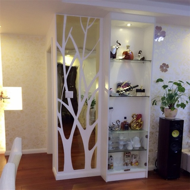 3D large Tree pattern Acrylic wall stickers mirrors,decorative