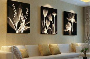 Living room decorative painting Modern sofa background flower design
