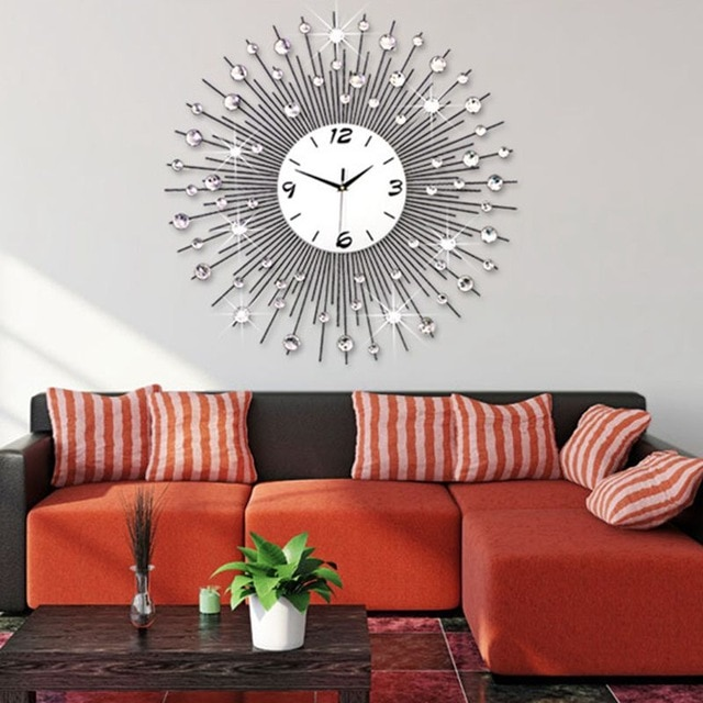 3D Big Wall Clock Modern Design Home Decor Wall Watches Living Room