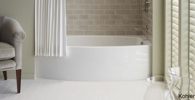 8 Soaker Tubs Designed For Small Bathrooms | Bathroom Remodels