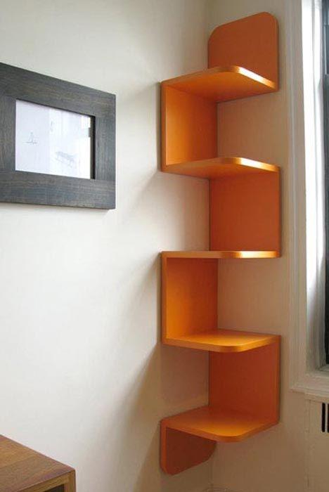 Designer Wooden Corner Shelves Wall Mounted