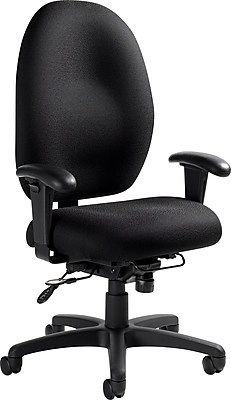 Global Stamina+ Fabric Computer and Desk Office Chair, Adjustable
