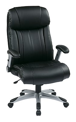 Office Star WorkSmart Leather Executive Office Chair, Adjustable