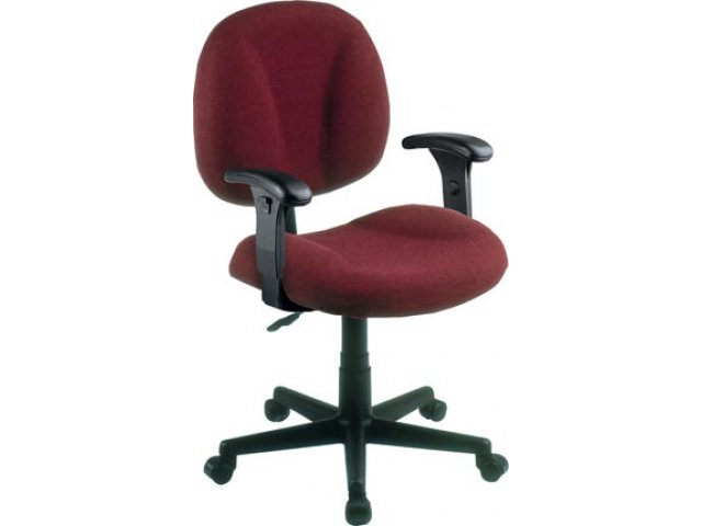 Secretarial Task Office Chair- Adjustable Arms FMO-105AA, Computer