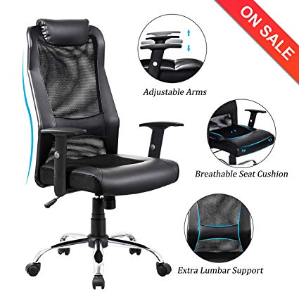 Amazon.com: VON RACER High Back Mesh Office Chair - Adjustable Arms