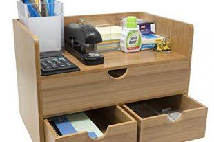 Amazon.com : Sorbus 3-Tier Bamboo Shelf Organizer for Desk with