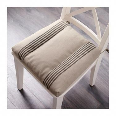 IKEA ULLAMAJ chair cushion Ties keep the chair pad in place. You can