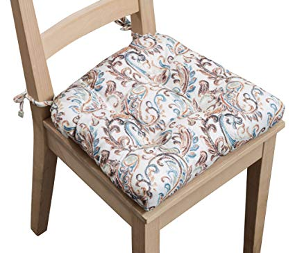 Amazon.com: Arlee Paisley Set of Two (2) Chair Pad Seat Cushions