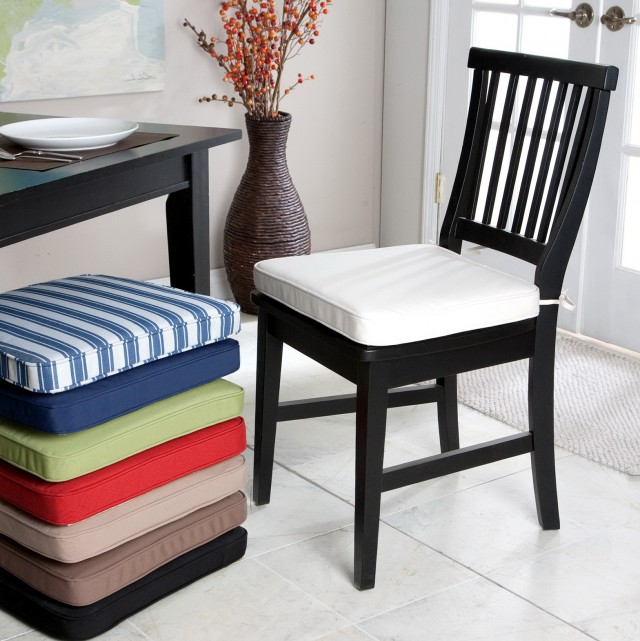 Dining room chair cushions with chair cushion pads with dining chair
