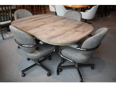 Caster Tilt Swivel Chairs on Wheels - Kitchen Furniture, Dining Room