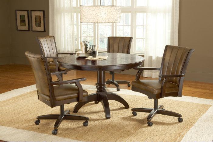 Elegant Dining Room Chairs With Wheels Plushemisphere Fabric