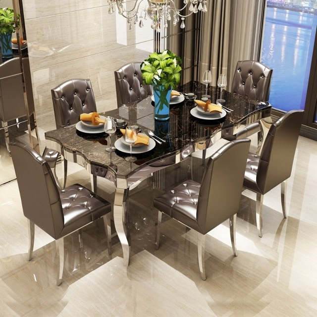 Rama Dymasty stainless steel Dining Room Set Home Furniture modern