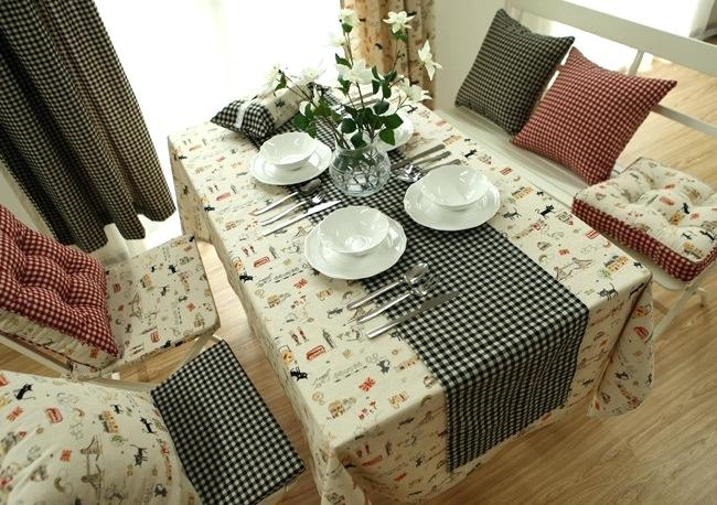 Table Cover Ideas Dining Room Vanity Black Cat Table Cloth Cotton
