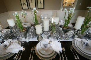 Superb Elegant Christmas Dining Room On Dining Room With Luxury