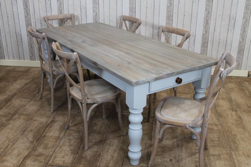 Distressed Farmhouse Dining Table Deena S Backsplash Ideas In