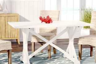 Beachcrest Home Roeper Distressed Farmhouse Dining Table & Reviews