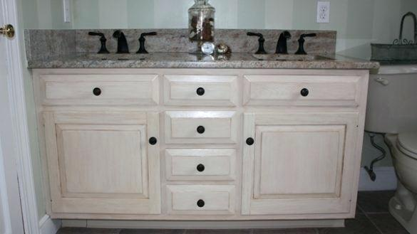 Distressed White Bathroom Cabinets Distressed Bathroom Cabinet