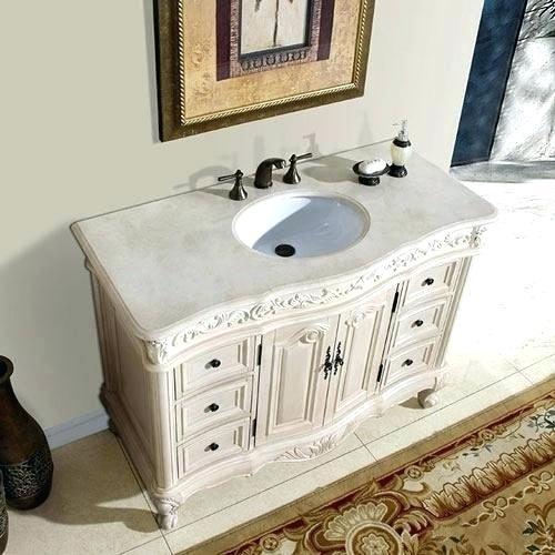 Distressed White Bathroom Vanity Distressed White Vanity Exclusive