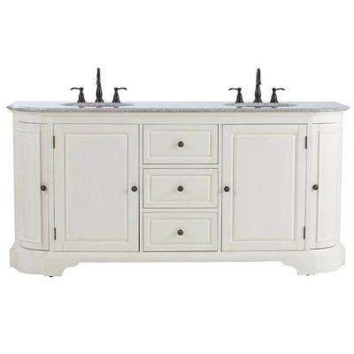 Home Decorators Collection Davenport 73 in. W x 22 in. D Double Bath
