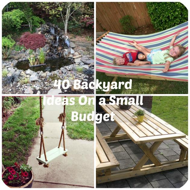 40 DIY Backyard Ideas On a Small Budget