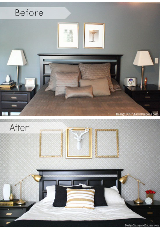 Decorating a Bedroom on a Budget with DIY Stencils!