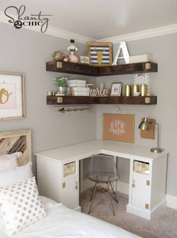 DIY Floating Corner Shelves | Dream Bedrooms | Floating corner