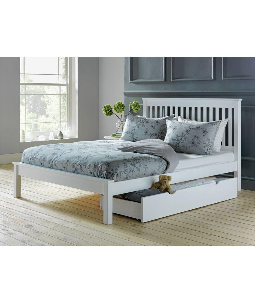 Buy Aspley Double Bed Frame - White at Traveller Location.uk - Your Online Shop for Bed  frames.